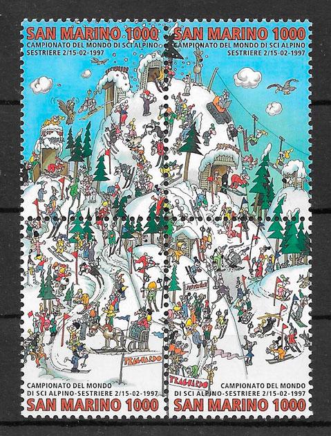 sellos deporte San Marino 1997