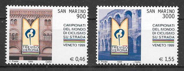 filatelia colección deporte San Marino 1999