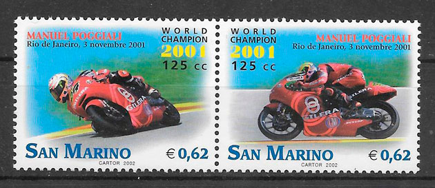filatelia colección deporte San Marino 2002
