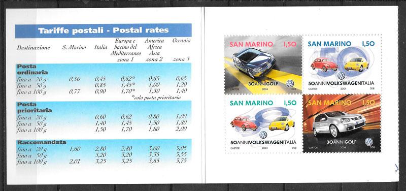 sellos transporte San Marino 2004