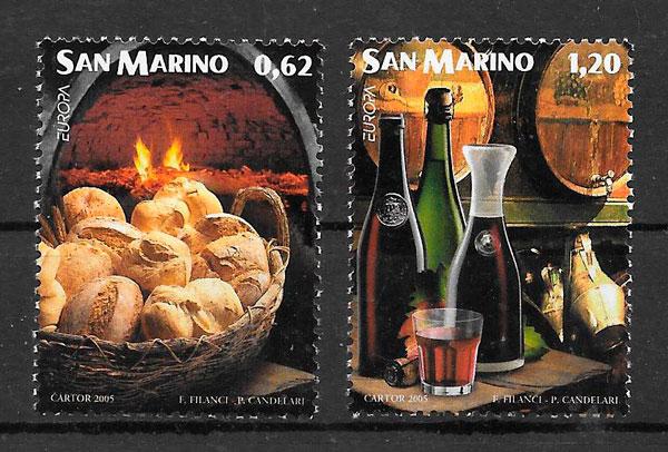 sellos Europa San Marino 2005