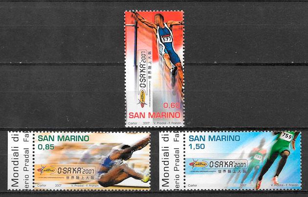 sellos deporte San Marino 2007