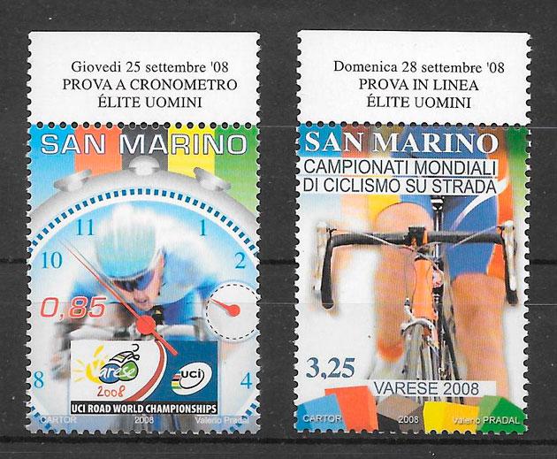 sellos deporte San Marino 2008
