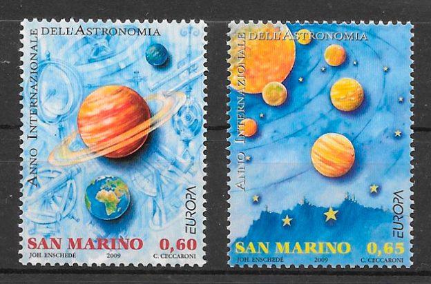 filatelia Europa San Marino 2009