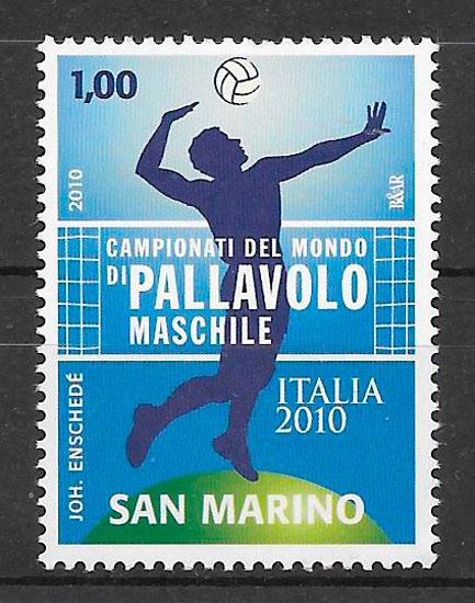 filatelia colección deporte San Marino 2010