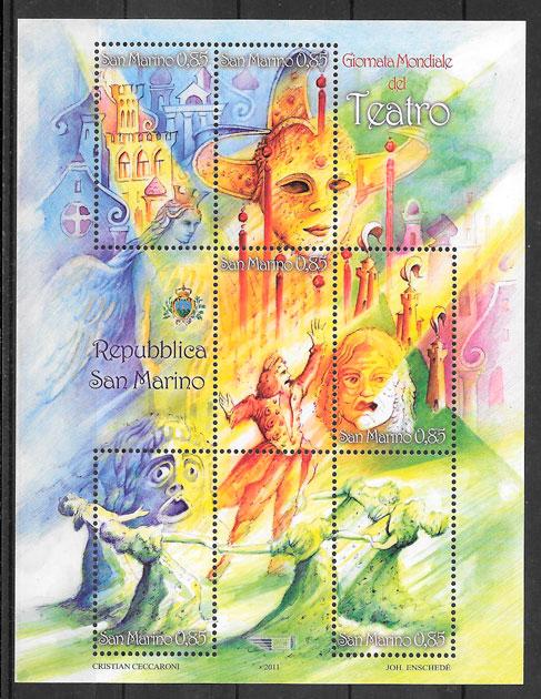sellos arte San Marino 2011