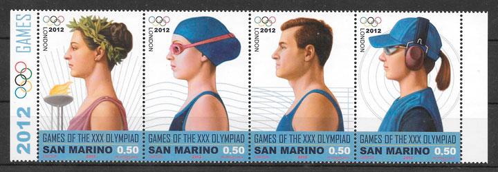 sellos deporte San Marino 2012
