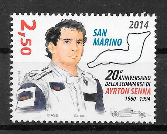 sellos deporte San Marino 2014