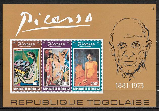 filatelia pintura Togo 1974