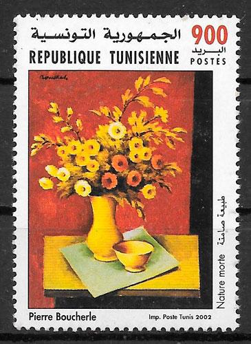filatelia pintura Túnez 2002