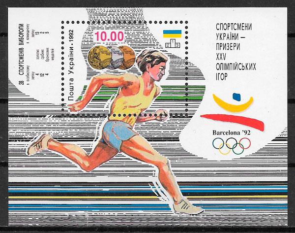 sellos olimpiadas Ucrania 1992