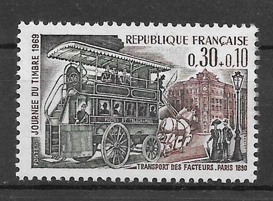 filatelia colección transporte Francia 1969