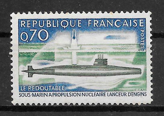 filatelia coleción transporte Francia 1969