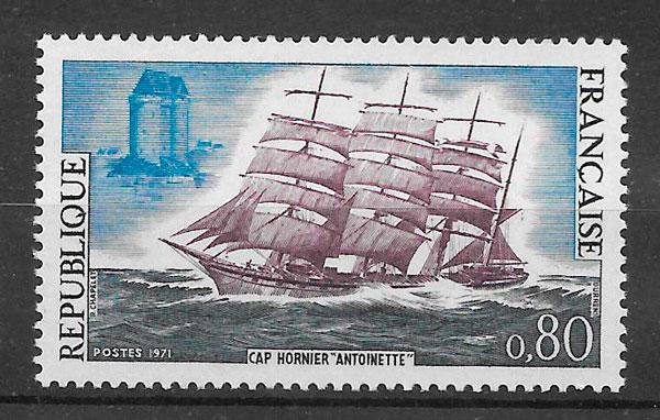 sellos transporte Francia 1971