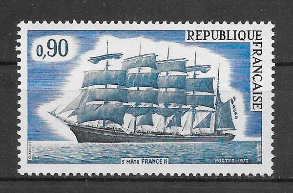 filatelia transporte Francia 1973