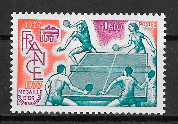 sellos deporte Francia 1977