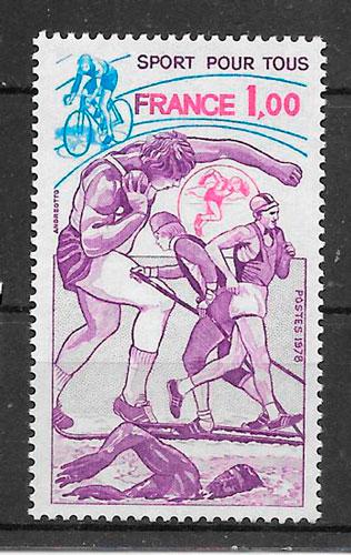 filatelia deporte Francia 1978
