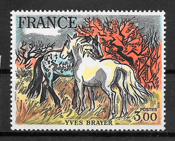 filatelia colección pinturas francia 1978