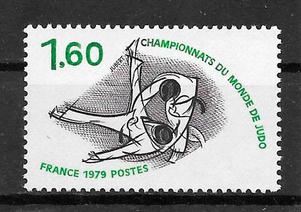 sellos deporte Francia 1979