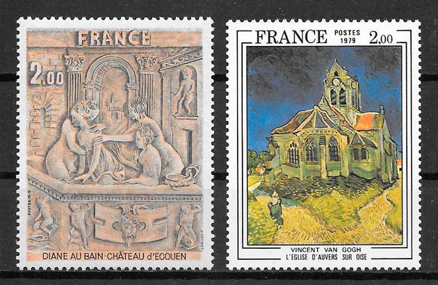 sellos arte Francia 1979