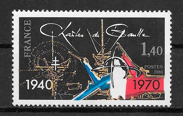 sellos temas varios Francia 1980