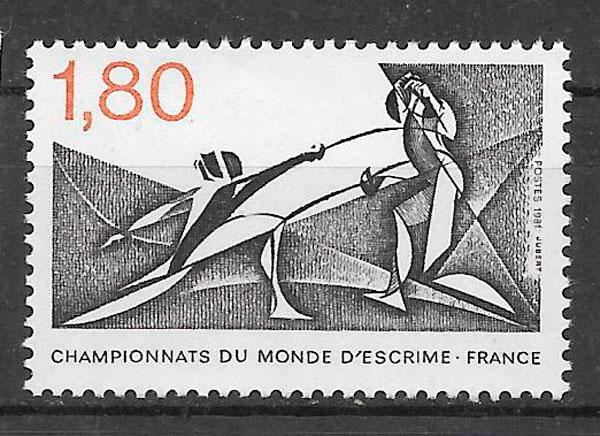 colección sellos deporte Francia 1981
