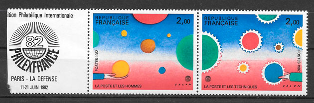 colección sellos Francia 1982