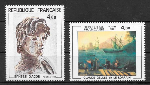 sellos arte Francia 1982