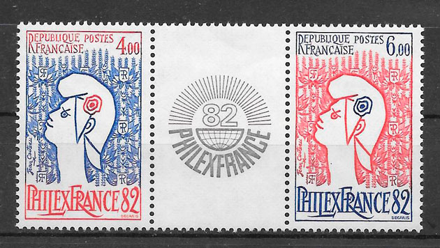 filatelia temas varios Francia 1982