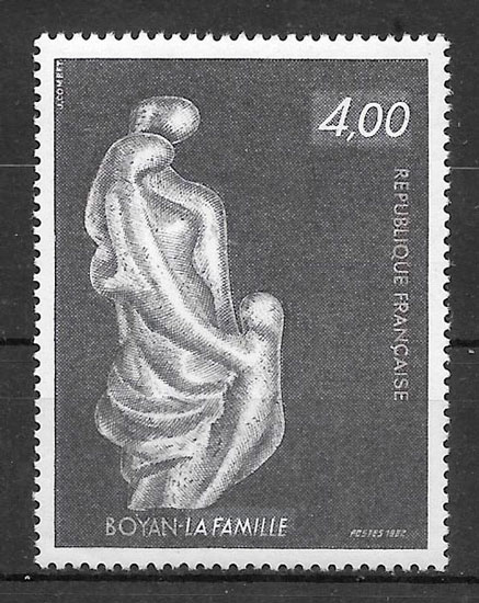 filatelia arte Francia 1982