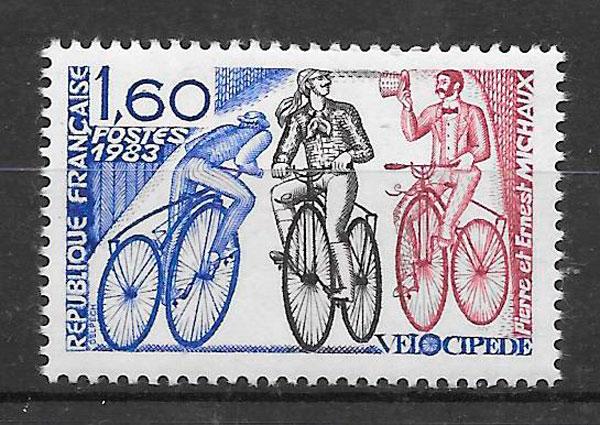sellos deporte Francia 1983