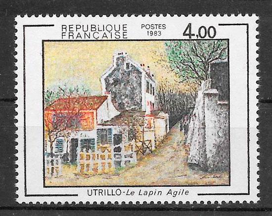 filatelia colección arte Francia 1983