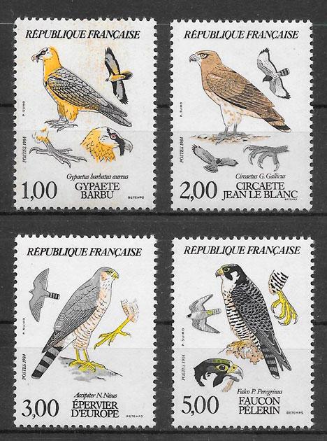 colección sellos fauna Francia 1984