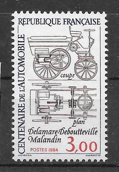 sellos transporte Francia 1984