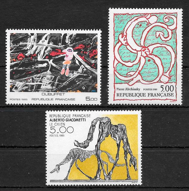 sellos arte Francia 1985