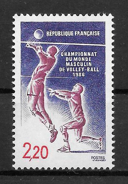 filatelia deporte Francia 1986