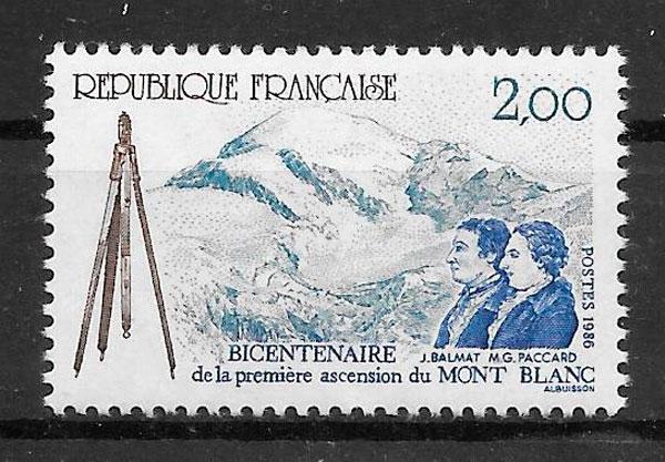 filatelia colección deporte Francia 1986