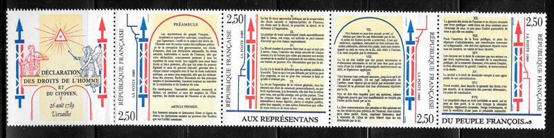 sellos temas varios Francia 1989