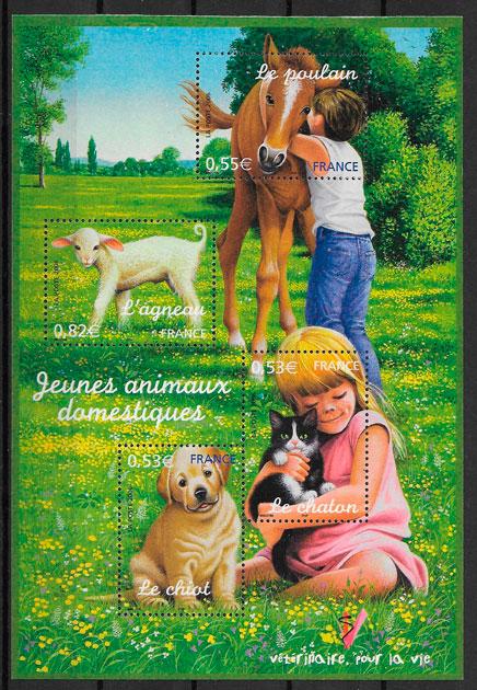 sellos fauna Francia 2006