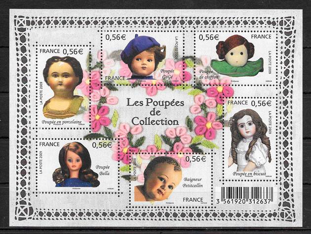 filatelia colección temas varios Francia 2009