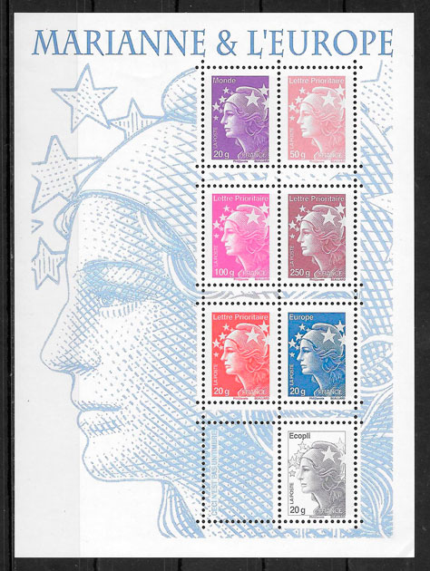 colección sellos temas varios Francia 2011