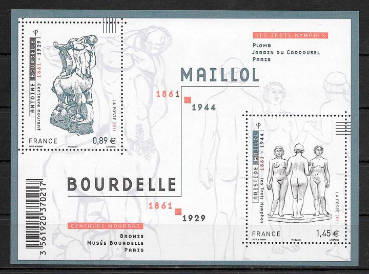 colección sellos arte Francia 2011