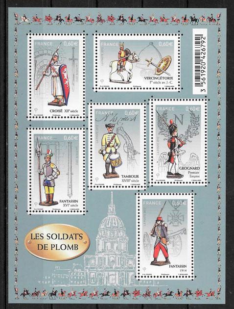 sellos temas varios Francia 2012