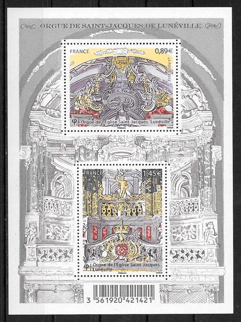 colección sellos arte Francia 2012