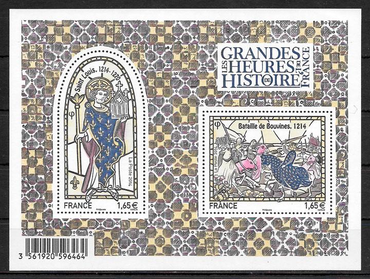 colección sellos arte Francia 2014