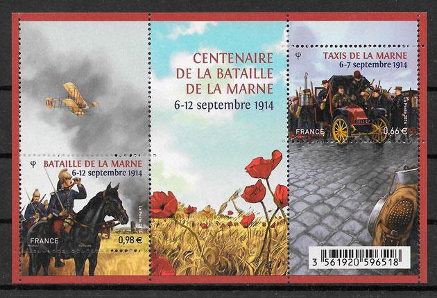 colección sellos temas varios Francia 2014
