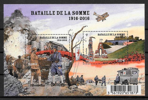 colección sellos temas varios Francia 2016