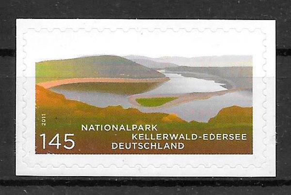 filatelia colección parques naturales Alemania 2011