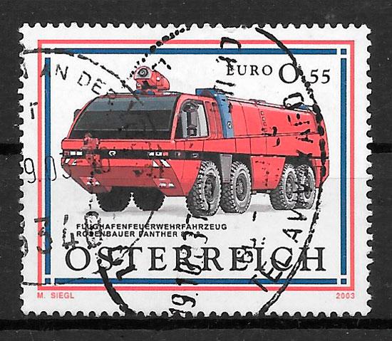 colección sellos transporte Austria 2003
