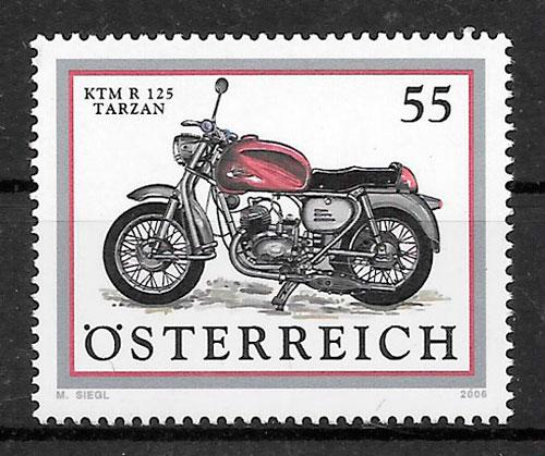 coleción sellos transporte Austria 2006